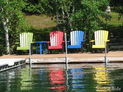 Chairs on Bad medicine Lake