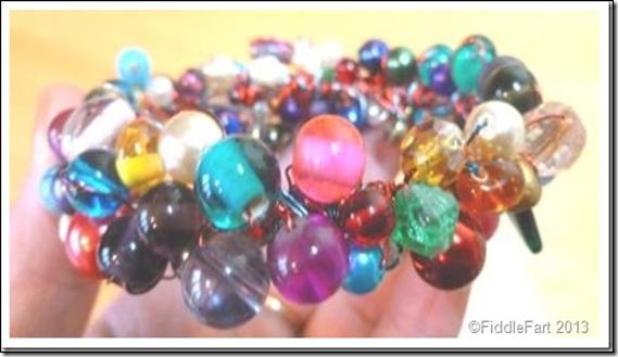 beaded wire bracelet 1
