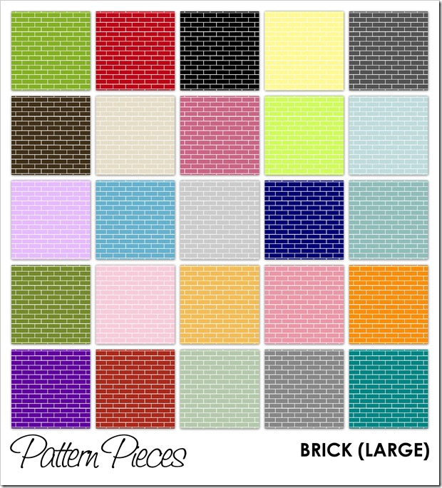 IMAGE - Pattern Pieces - Brick (Large)