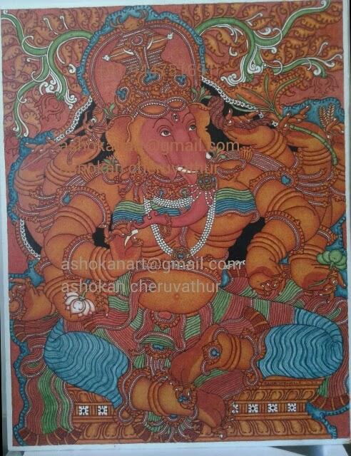 Ashokan cheruvathur for Asha mural painting guruvayur