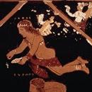 Crátera de figuras rojas, pintor de Asteas - ca. 340 a.C. - Paestum Museum  (detalle de cara A- Pothos)