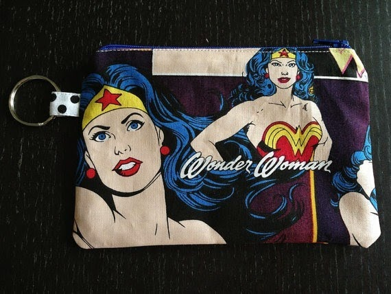Wonder Woman Zipper Pouch from knitpurlgeekgirl on Etsy