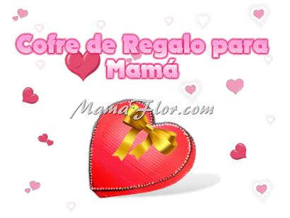 Caja en forma de Corazón para Regalo - ¡Feliz día Mamá!