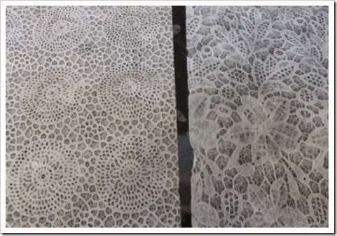 lace effect paper