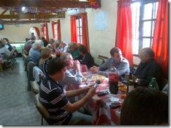 Juan Pablo de Jesús en almuerzo con jubilados