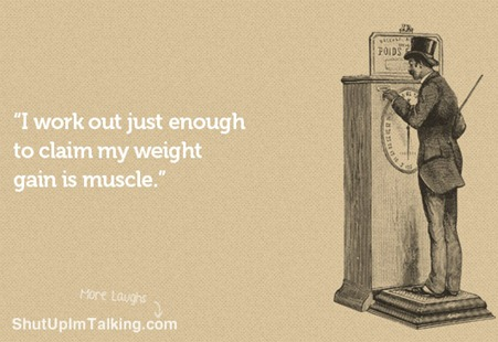 Muscle weighs same as fat