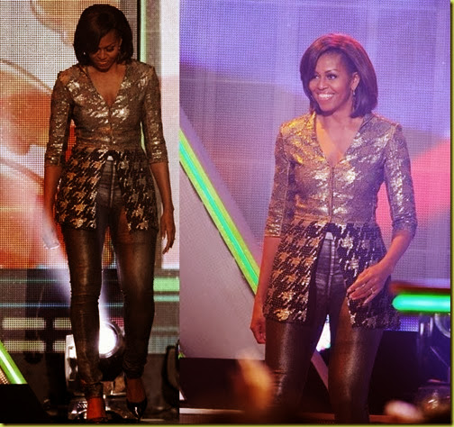 michelle obama in nickelodeont kids choice awards