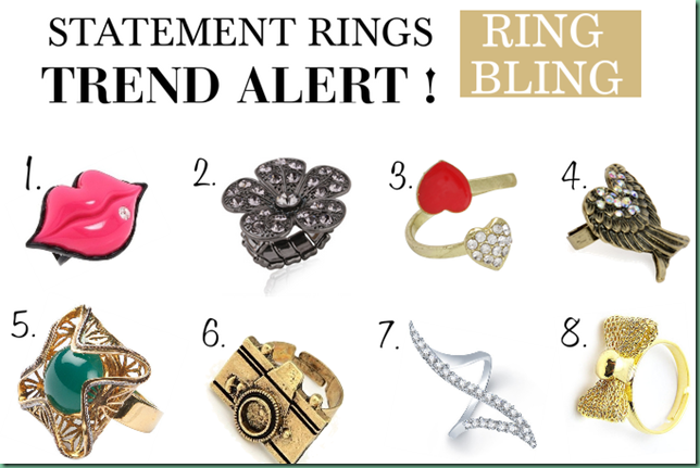 trend alert: Statement rings