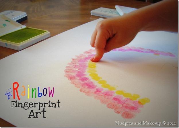 Rainbow Fingerprint Art