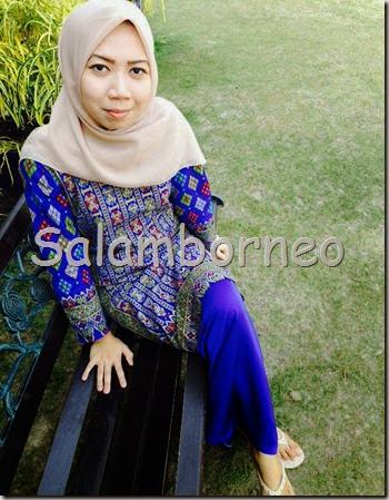 Salam Borneo Baju Raya Batik Sarawak Dari Pelanggan  gambartopcom