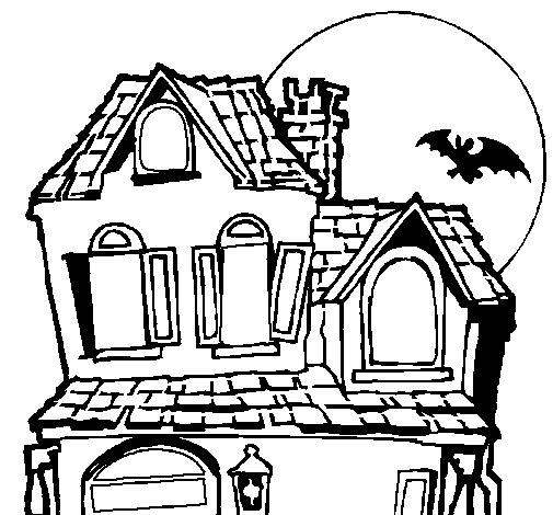 Dibujos de casas de miedo for Dibujos en techos de casas