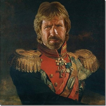 Chuck Norris Replaceface Print