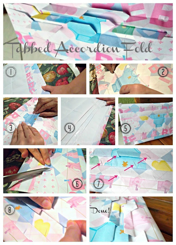 fancy tabbed gift wrap tutorial
