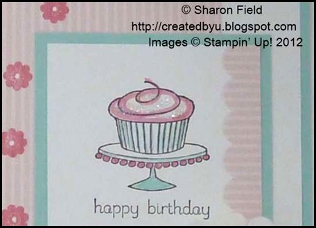 marker colored cupcake with dazzling diamonds accent