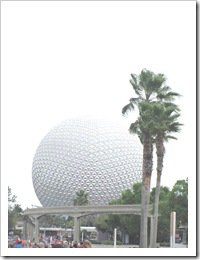 Florida vacation Epcot Ball at entrance