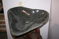 Boulder Sink - Dark Contoured Vessel Sink