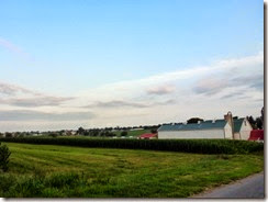Farmland beside the cg