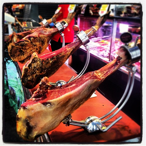 Ham legs at La Boqueria