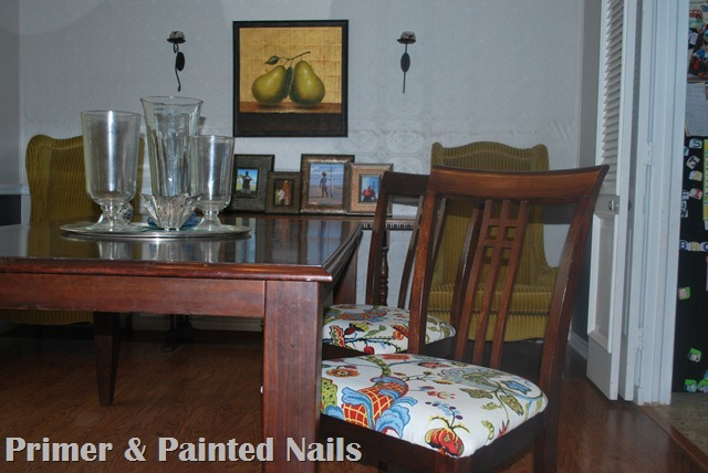 Dining Chairs After - Primer & Painted Nails