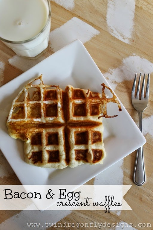 Bacon and Egg Crescent Waffles
