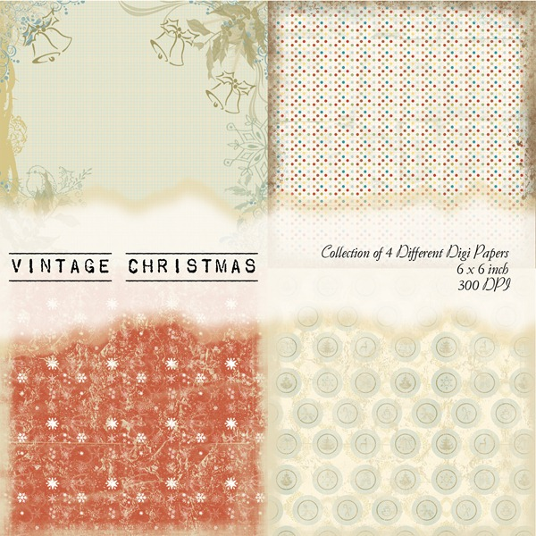 Vintage Christmas Front Sheet