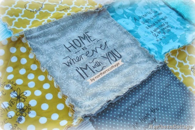 Remember a special event with signed quilt squares {NorthernCottage}