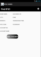 Screenshot of Ifsc Code