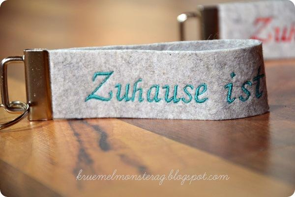Schlüsselband Filz Zuhause AQUA (2)