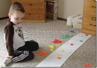 (37) matt loves playing with tangrams