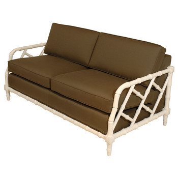 White Bamboo Loveseat (piecesinc.com)