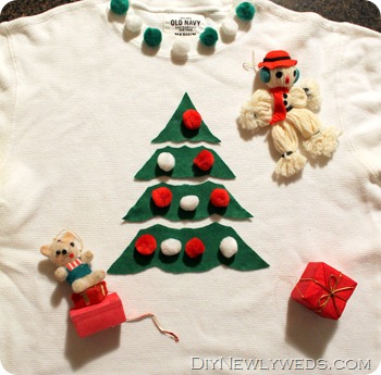 diy ugly holiday sweater