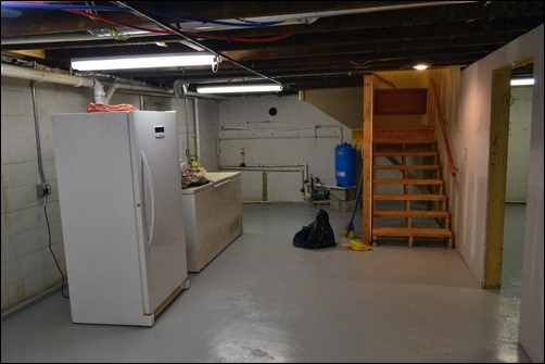 basement freezer west end walls ready