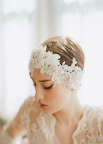 Twigs & Honey Oversized Lace & Rhinestone Hair Ribbon $598