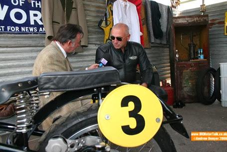 Graham Benge talks to Karl-Heinz Kalbfell at the 2008 Goodwood Revival