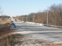 Highway 92 bridge over the West Fork of Crooked Creek looking west.