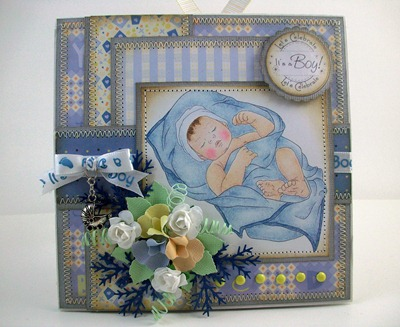 Baby & Blanket Card