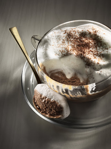 Mocha semifreddo with hot milk foam. (Martha Stewart Living)