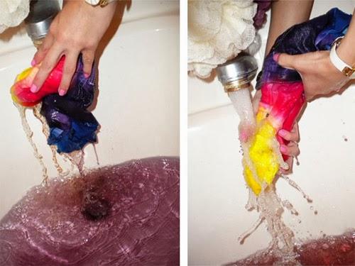 Customização - short arco-íris rainbow