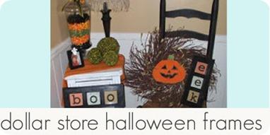 dollar store halloween frames