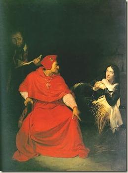 Joana D'Arc na Prisão - Óleo do pintor francês Paul Delaroche.