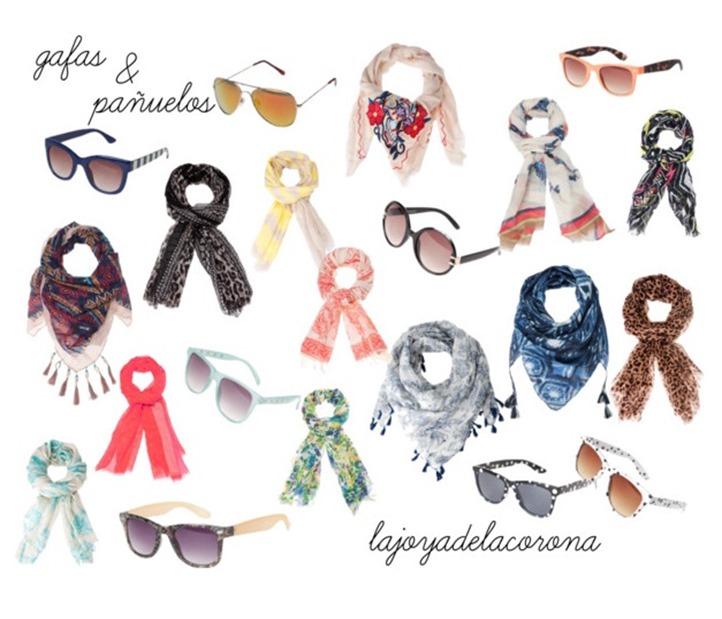 gafas y pañuelos