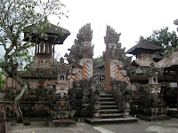 Statues and temples in Ubud