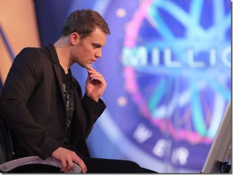 manuel neuer wants be a milionare
