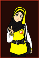 muslimah doodle & cartoon cute kuning