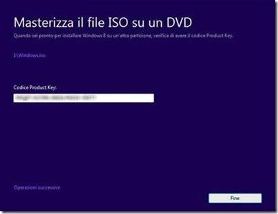 Windows 8 masterizzazione ISO su DVD