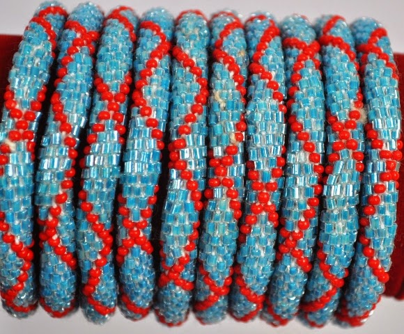 Rollover Red Series Bead Bracelets
