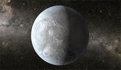ilustração de um exoplaneta mini-Netuno