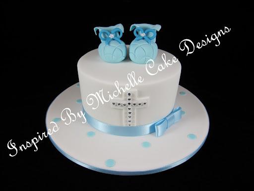 Boys Baptism Cakes
