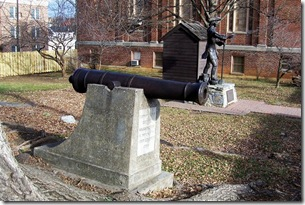 Cannon from Fort Loudoun located at Washington's Office, Winchester, VA