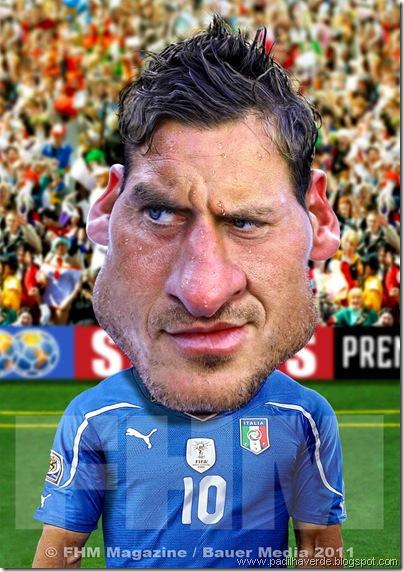 Caricatura Francesco Totti